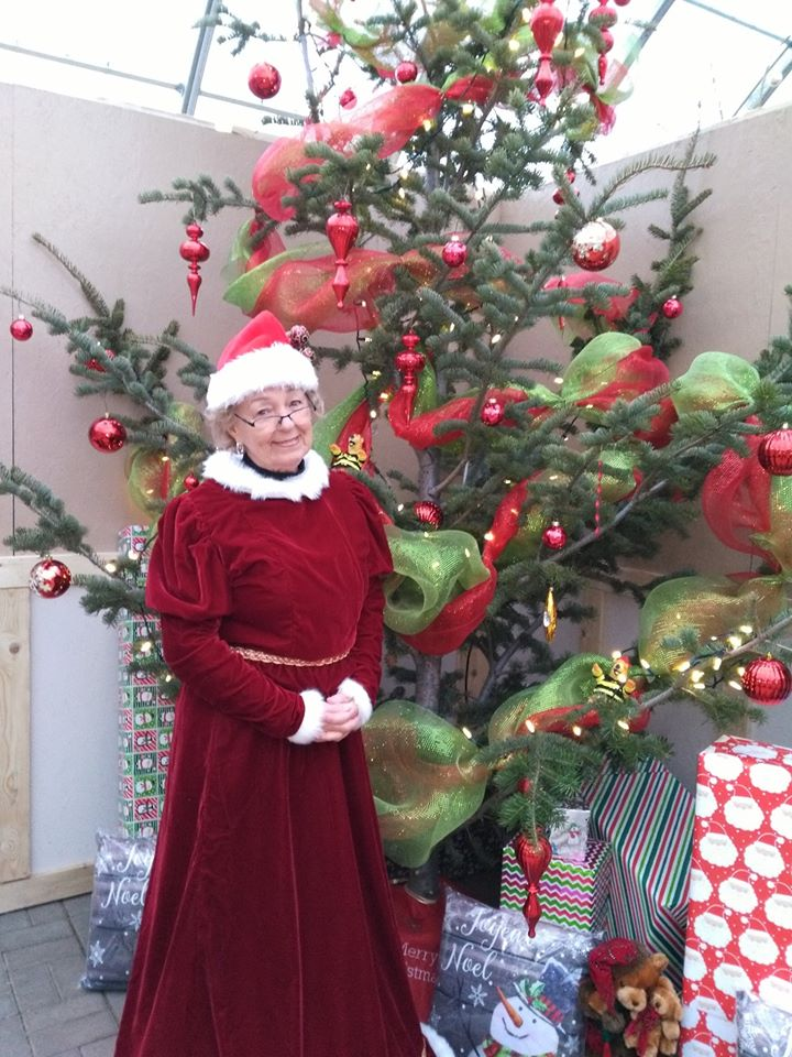 Mrs Claus in Kiwi Nurseries Christmas Grotto 2019