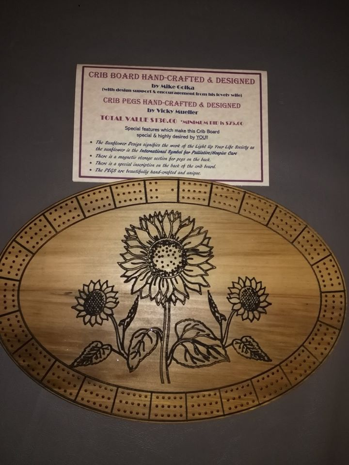 Silent Auction 2019 handcrafted crib board