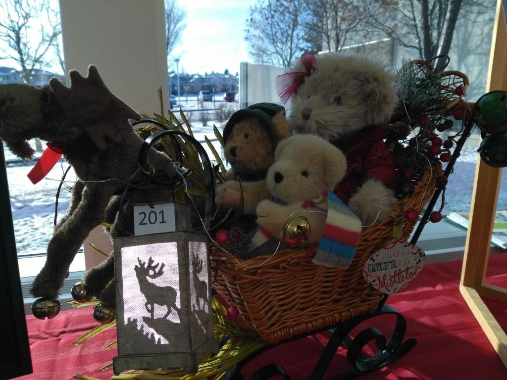Silent Auction 2019 teddy bear sleigh