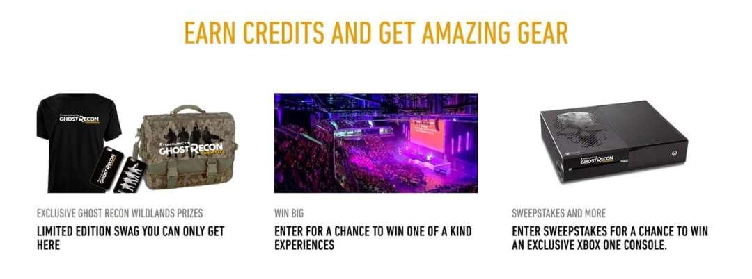 Ghost Recon Wildlands rewards prizes
