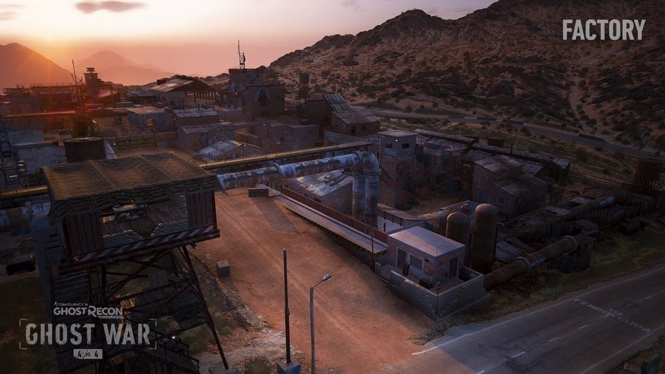 Factory map in Ghost War