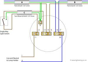 Radial circuit light wiring diagram | Light wiring