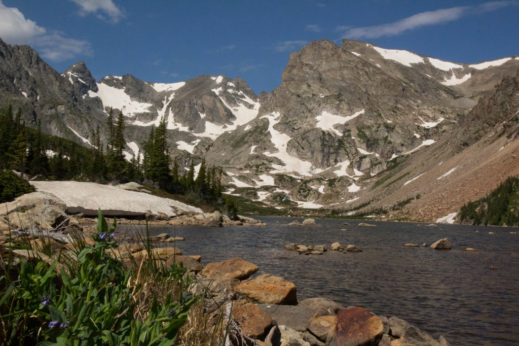 About a week later, I went back up to Lake Isabelle. Conditions were a bit drier and just as lovely.