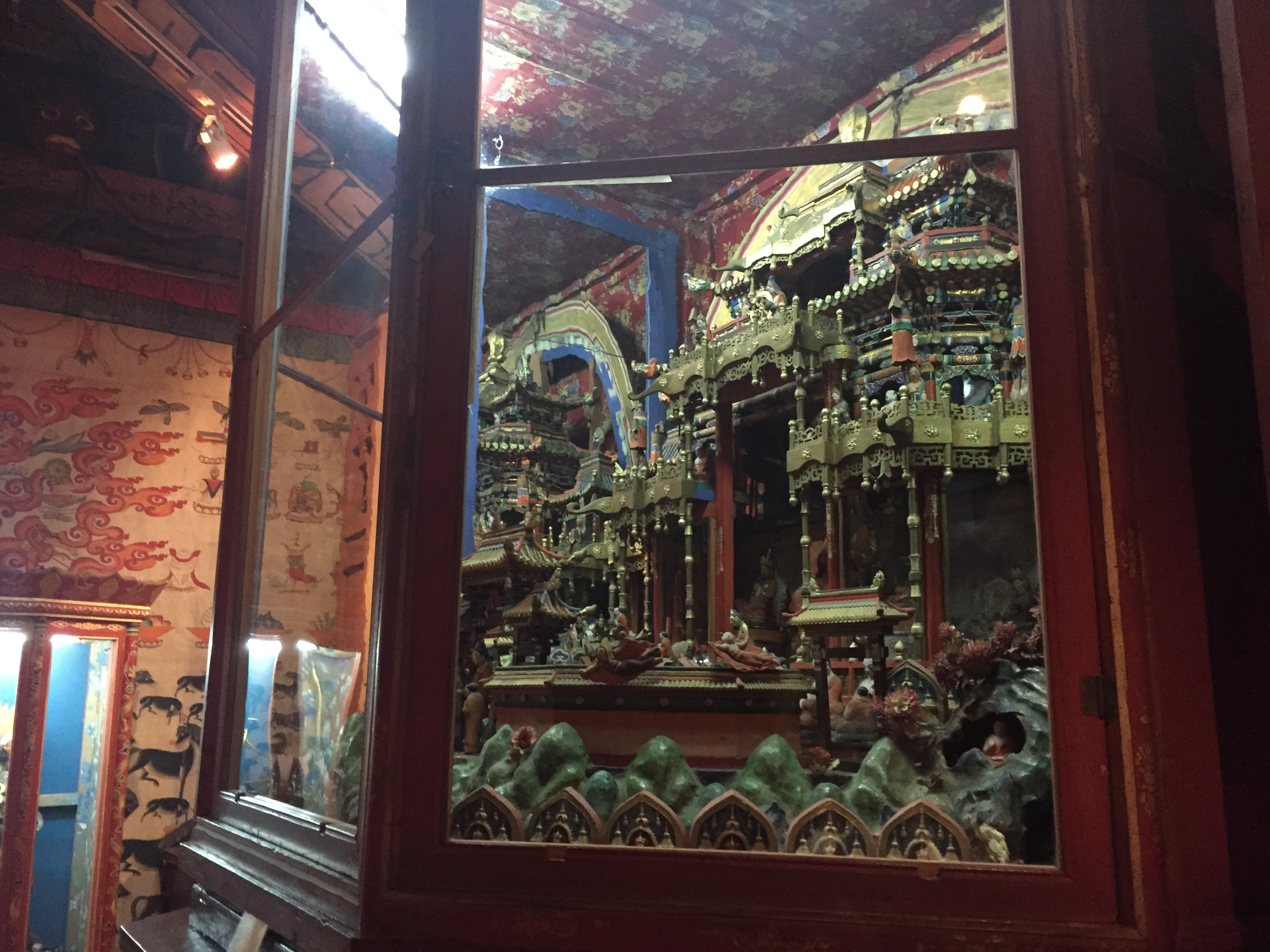 There were also two model temples that were elaborate and beautiful.