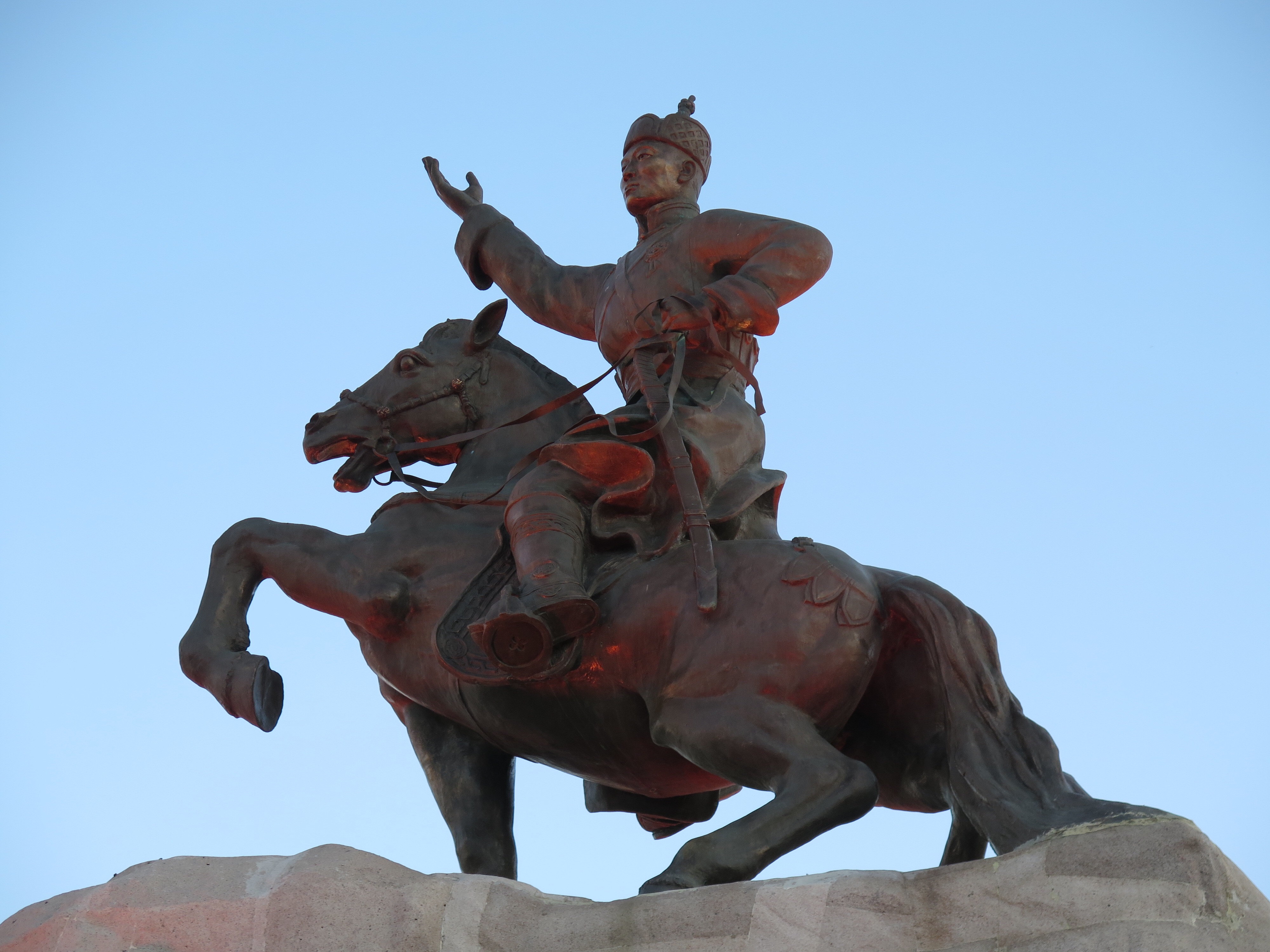 Statue of Damdinii Sükhbaatar, who was a leader of Mongolia.