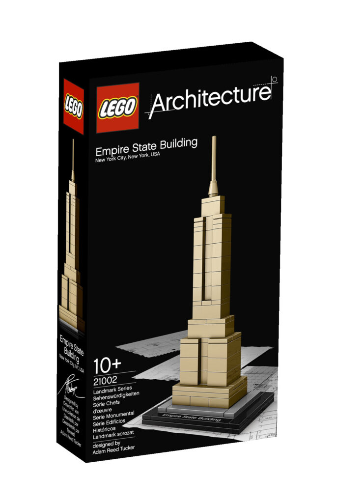 Boite de l'Empire State Building de Gregory Johnson, New York, États-Unis - Artiste : Adam Reed Tucker - Collection LEGO Architecture