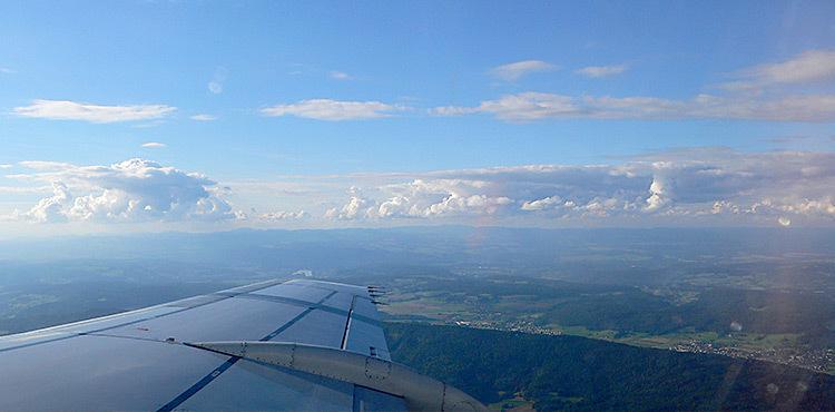 Lumière du jour en avion
