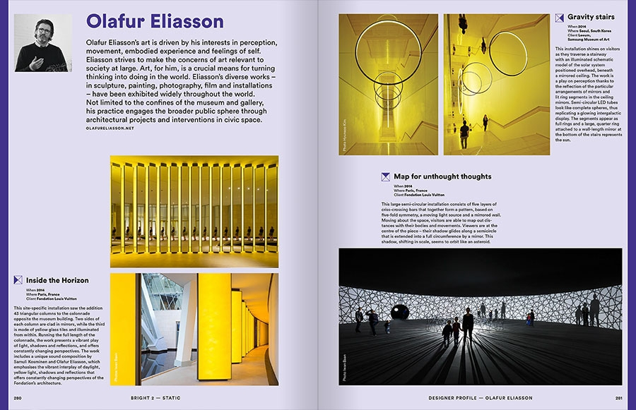 Pages 260-261 extraites du livre : Bright 2 Architectural Illumination and Light Installations