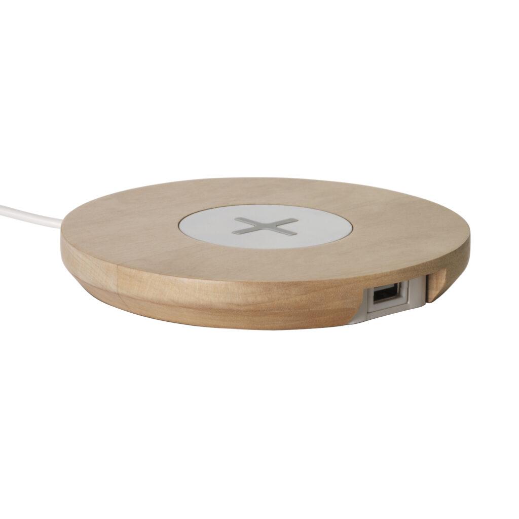 NORDMÄRKE, socle avec port USB plastique à rechargement sans fil © IKEA