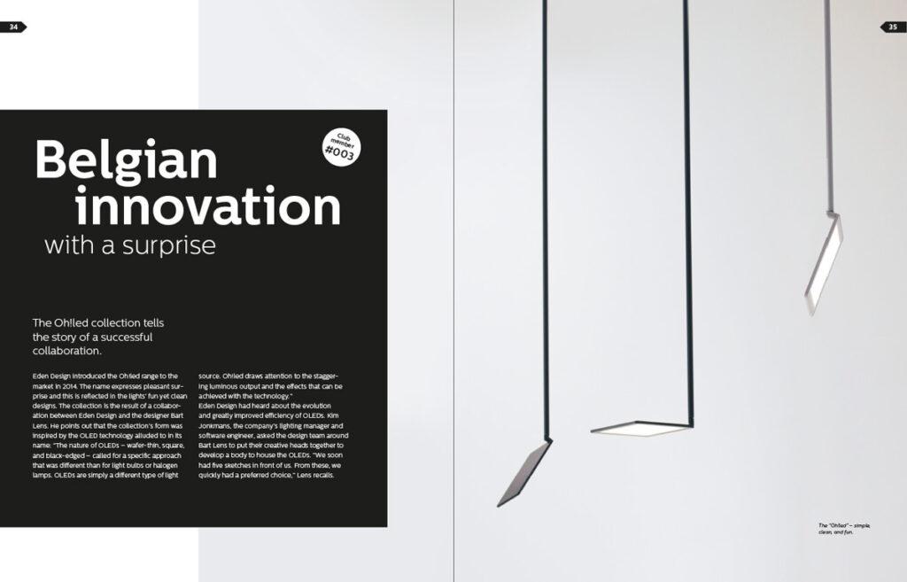 Suspension OLED, une innovation Belge © Lumiblade insider 01/2015