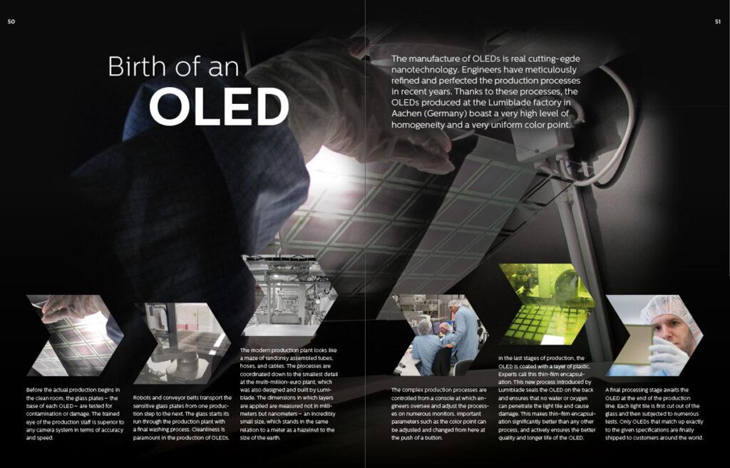 Fabrication d'une OLED © Lumiblade insider 01/2015