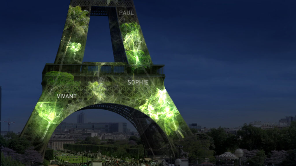 1 Heart 1 Tree - Phase 2 - Tour Eiffel, Paris, France - Illustration : Naziha Mestaoui