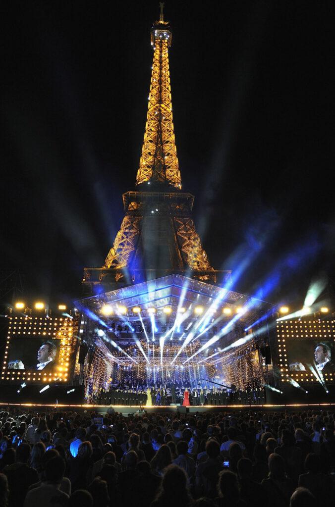 14 juillet 2014 - Tour Eiffel, espace scénique du Concert de Paris - Photo : Maire de Paris - SNTE, Pierre Bideau