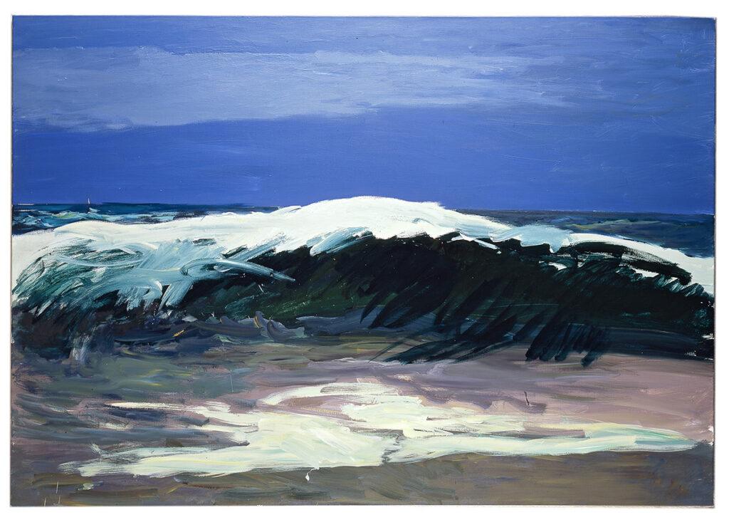 Patrice Giorda, La vague, 2015, 114 x 162 cm © Gilles Framinet