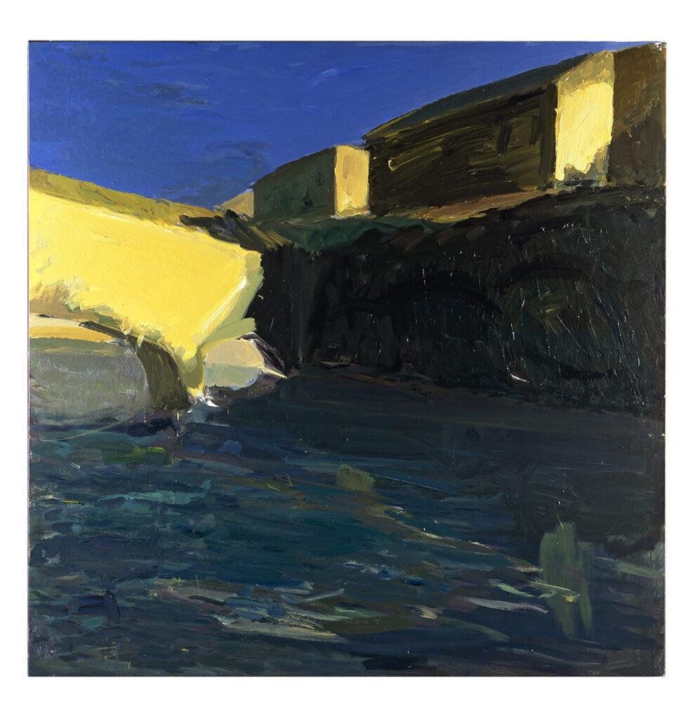 Patrice Giorda, Le-pont d'or, 2006, 150 x 150 cm © Gilles Framinet