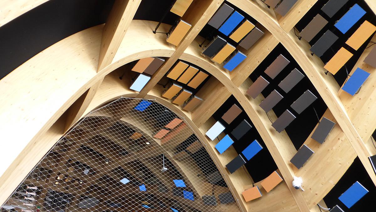 Expo 2015, Pavillon France, Milan, Italie - Plafond de l'entrée - Architectes XTU - Scénographie Adeline Rispal - Conception Lumiere Licht Kunst Licht - Photo Vincent Laganier