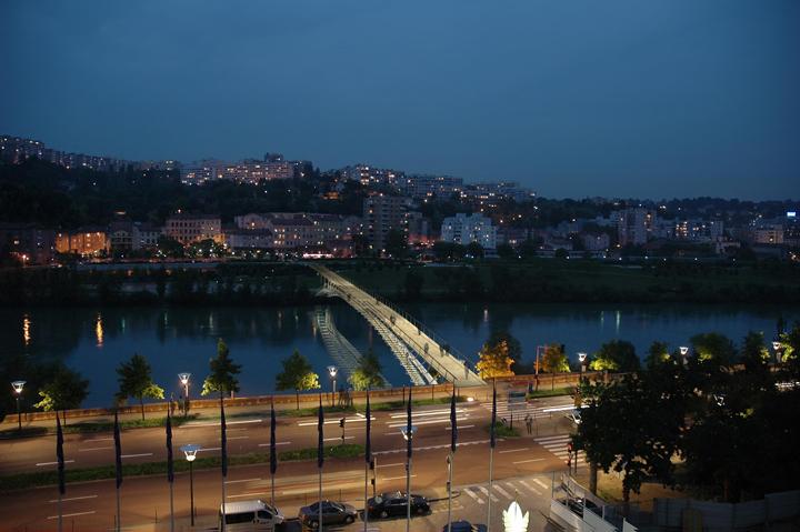 Détection en éclairage - Passerelle de la Paix, Lyon