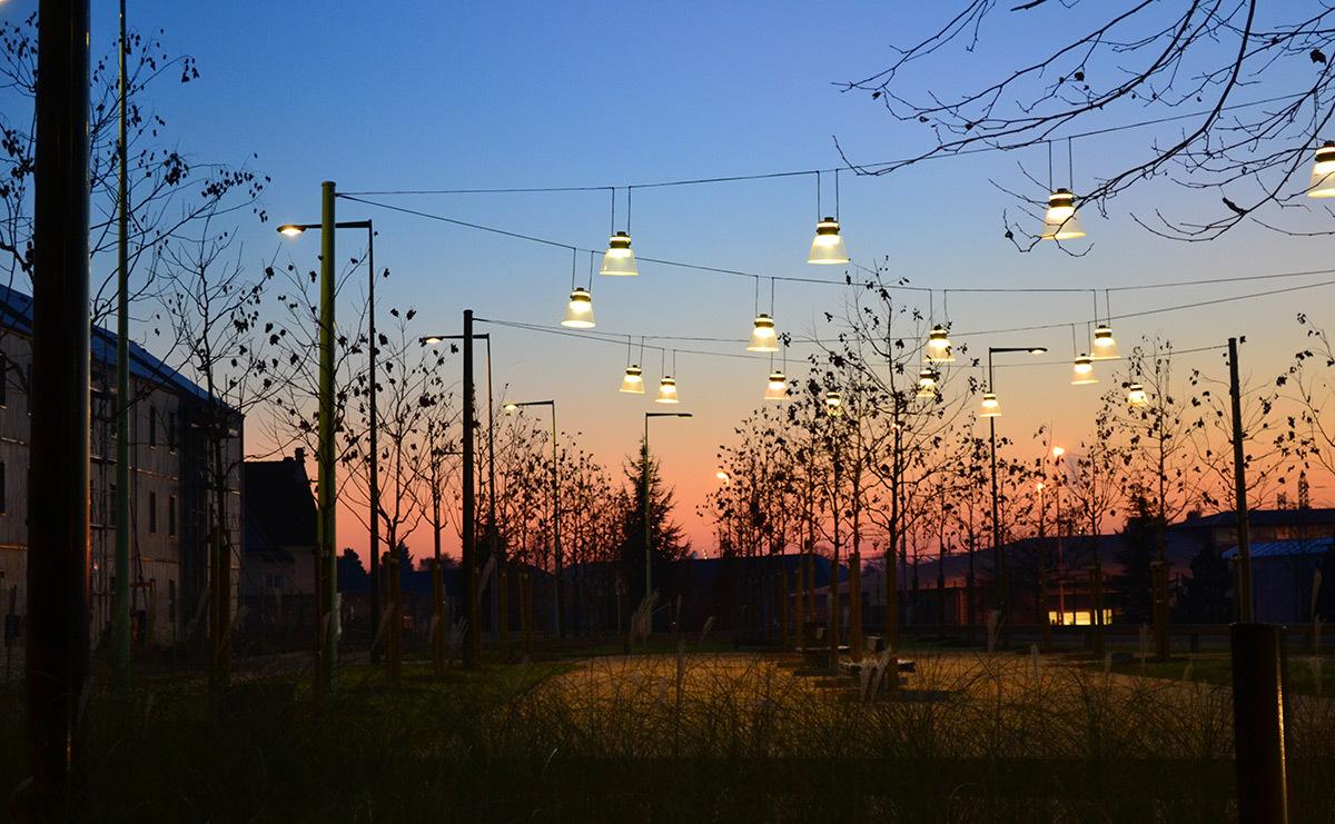 Quartier du Plateau, Montargis - Paysagiste Coulon-Leblanc - Conception lumière et photo 8'18''