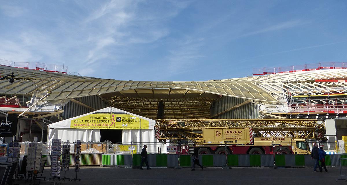 Chantier du nouveau Forum des Halles - Photo Vincent Laganier