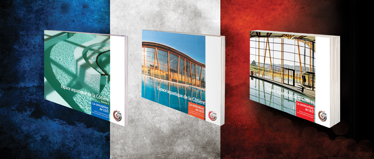 3 livres sur un bâtiment bioclimatique : conception, construction et réalisation