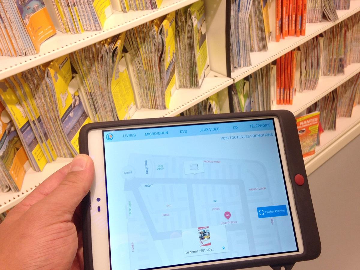 Communication par la lumière en Li-Fi dans un magasin