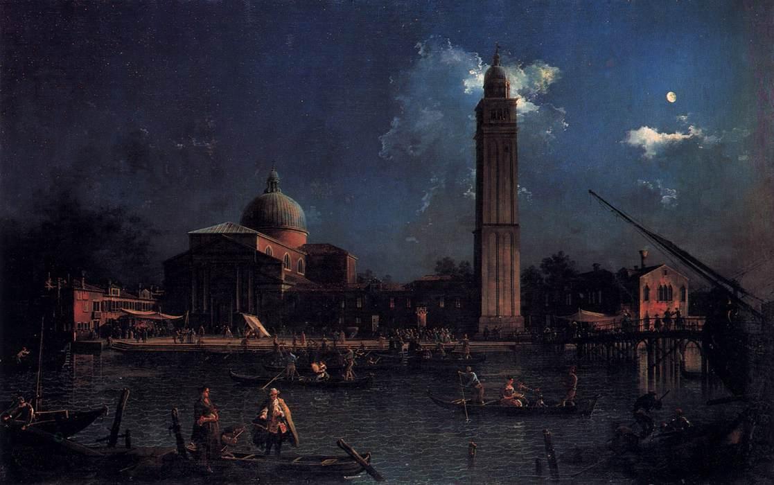 Veillée nocturne a San Pietro di Castello © Canaletto, 1760