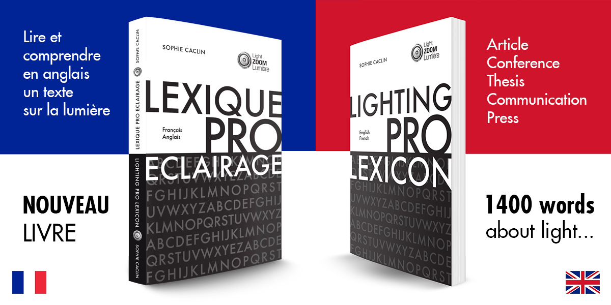 Lexique de l'éclairage professionnel, Français-Anglais | Professional lighting lexicon, English-French