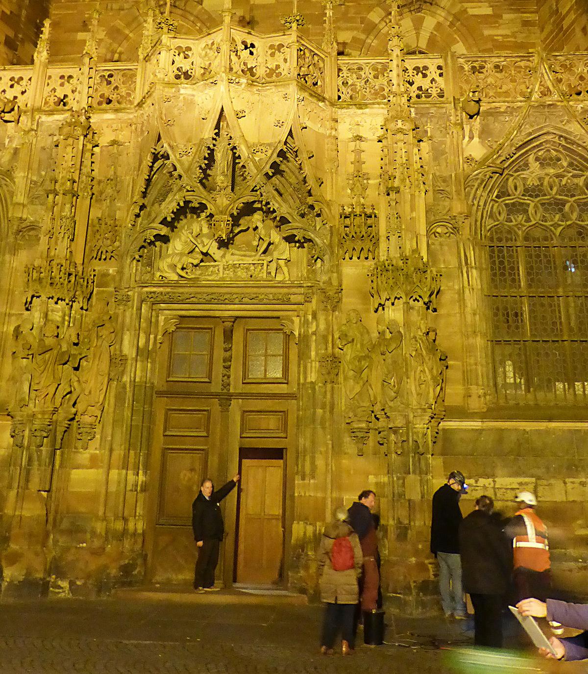 Portail Saint-Laurent, Cathédrale de Strasbourg, France - 10 février 2016 - Photo : Vincent Laganier
