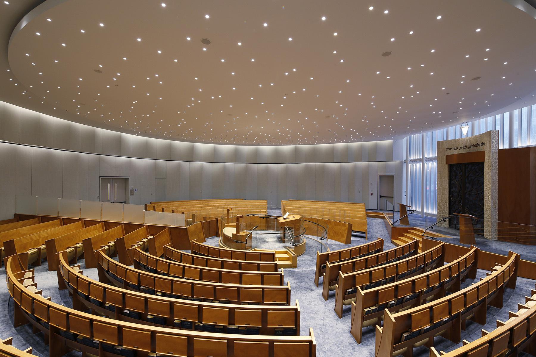 Synagogue Lincoln square, New York, US - Architecte : Cetra Ruddy - Conception lumière : Tillotson Design Associates © David Sundberg, Esto Photographics Inc