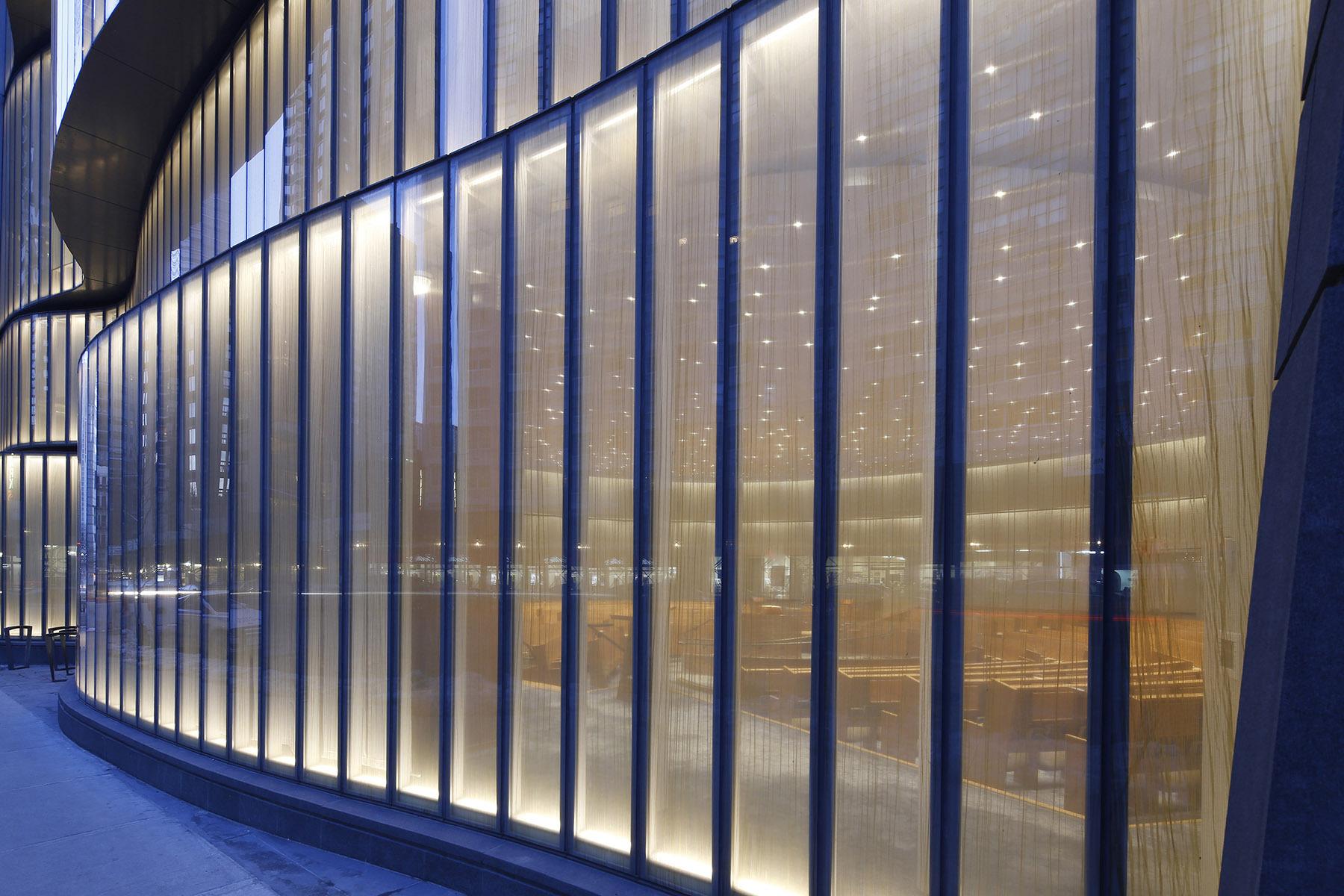 Synagogue Lincoln square, New York, US - Architecte : Cetra Ruddy - Conception lumière : Tillotson Design Associates © Emile Dubuisson, Studio Dubuisson