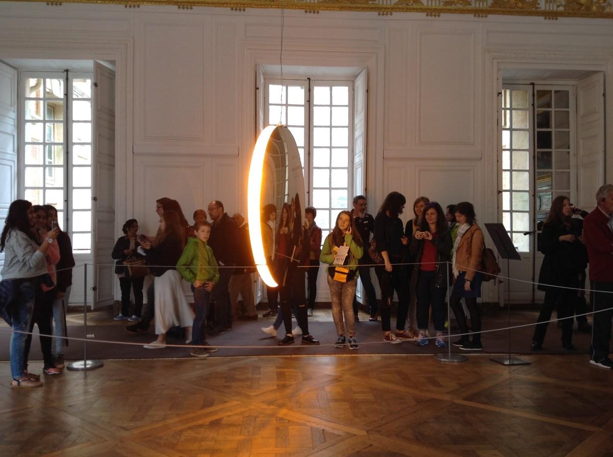 Solar compression, Olafur Eliasson à Versailles, salle des gardes du Roi : J-3 avant l'ouverture - Photo : Vincent Laganier