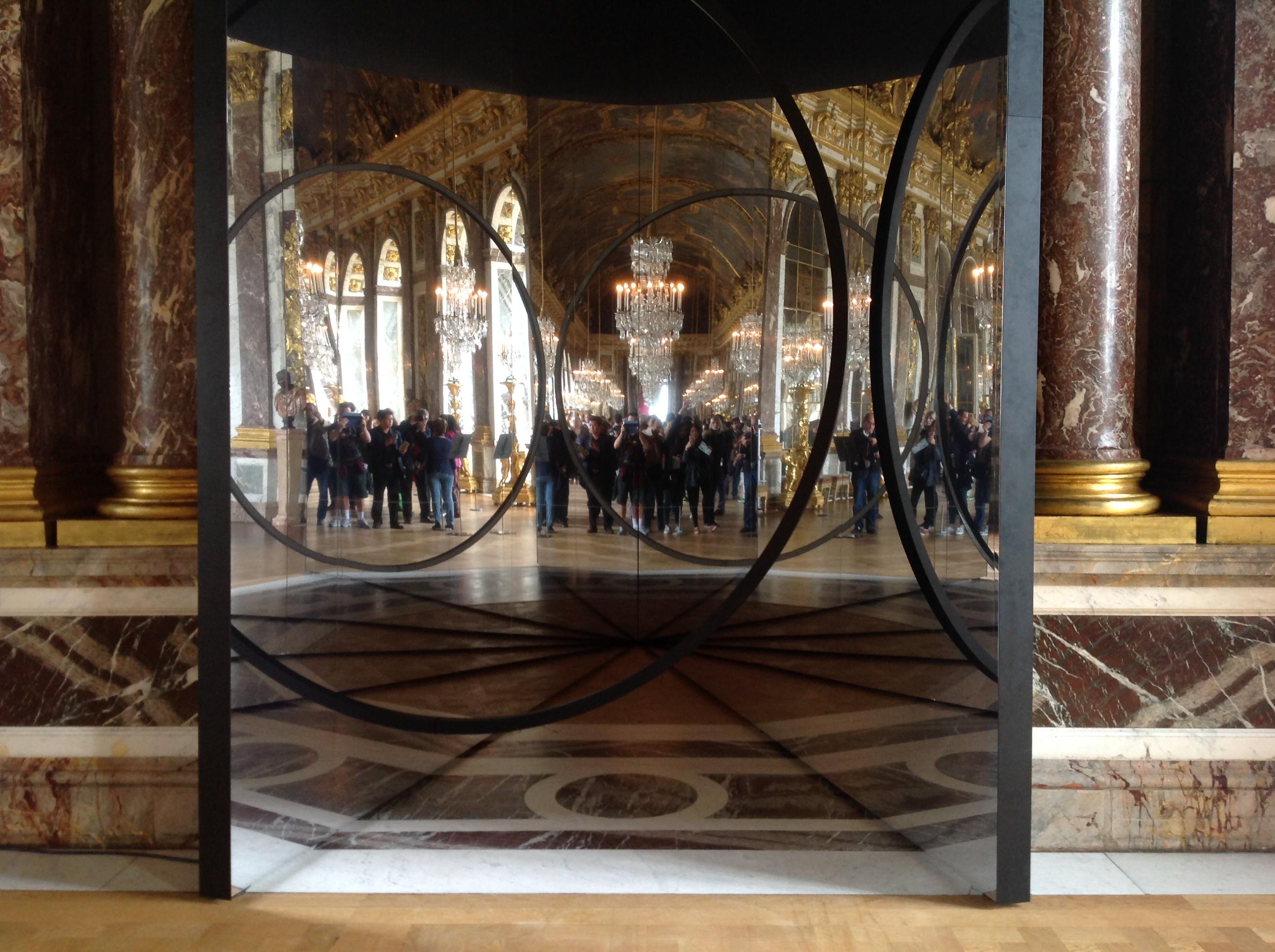 Your sense of unity, Olafur Eliasson à Versailles, Galerie des glaces : J-3 avant l'ouverture - Photo : Vincent Laganier