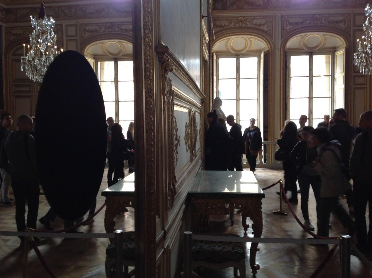Deep mirror, Olafur Eliasson à Versailles, salon de l'oeil de boeuf : J-3 avant l'ouverture - Photo : Vincent Laganier