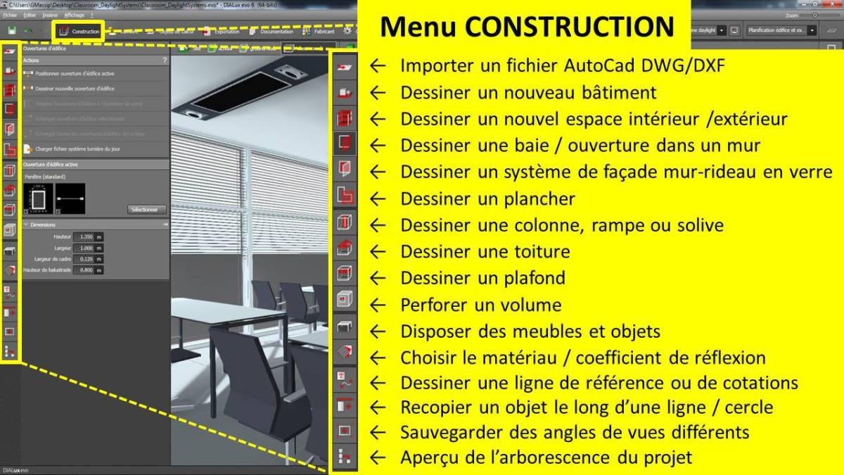 DIALux-evo-6-menu-2-construction-en-francais-Vincent-Laganier-Light-ZOOM-Lumiere