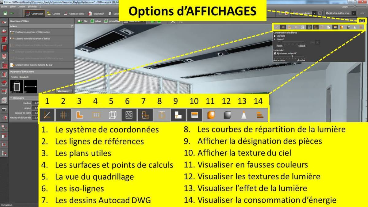 DIALux-evo-6-menu-9-options-affichage-en-francais-Vincent-Laganier-Light-ZOOM-Lumiere