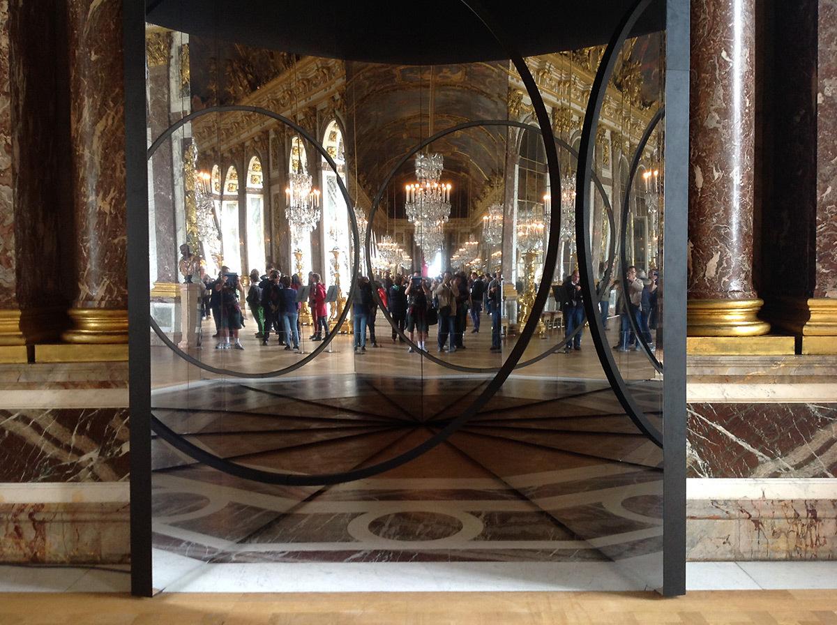 Your Sense of Unity, Olafur Eliasson, 2016 - sans éclairage - Galerie des Glaces, château de Versailles, France - Photo : Vincent Laganier