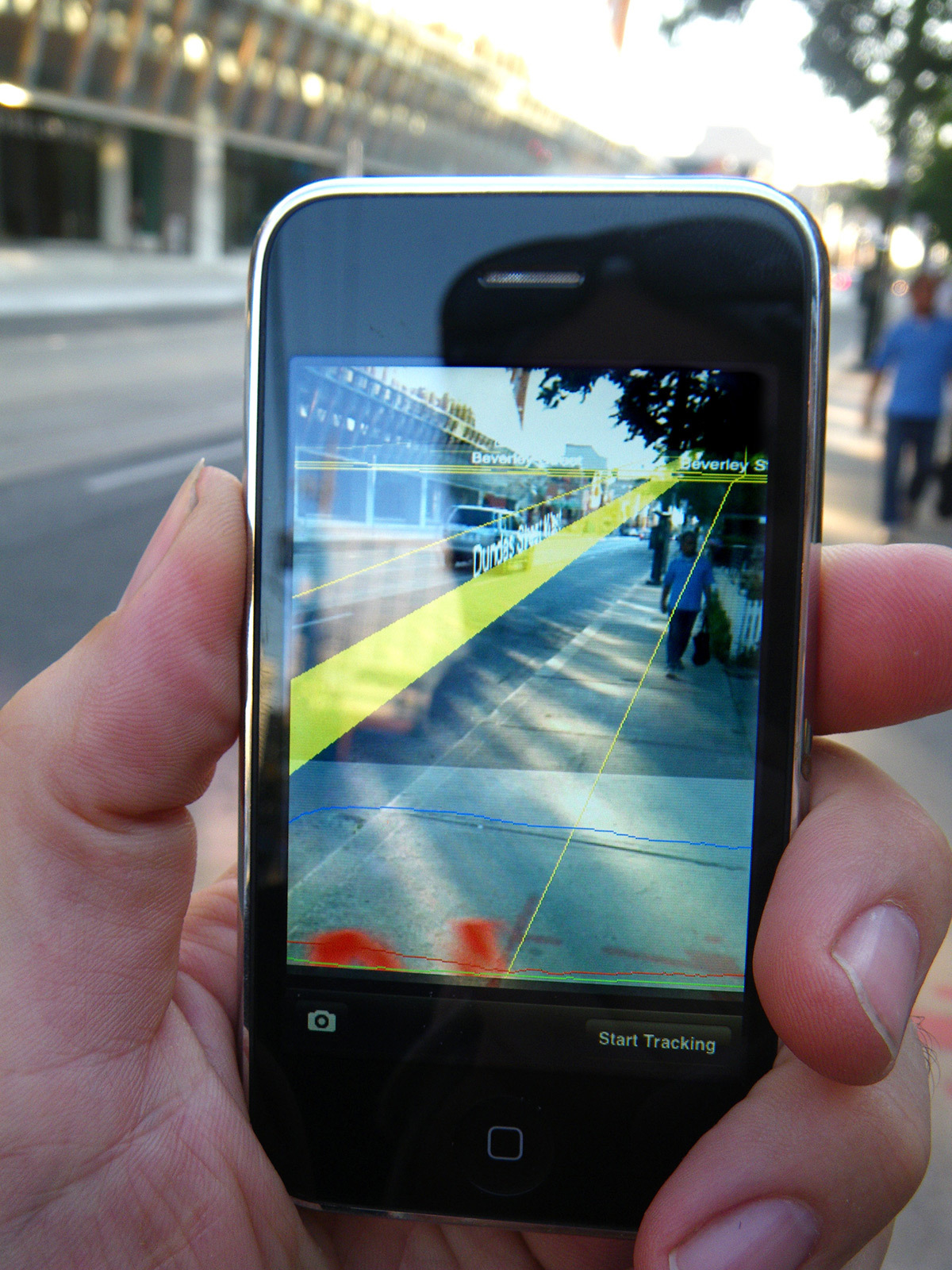 Réalité augmentée sur un téléphone portable