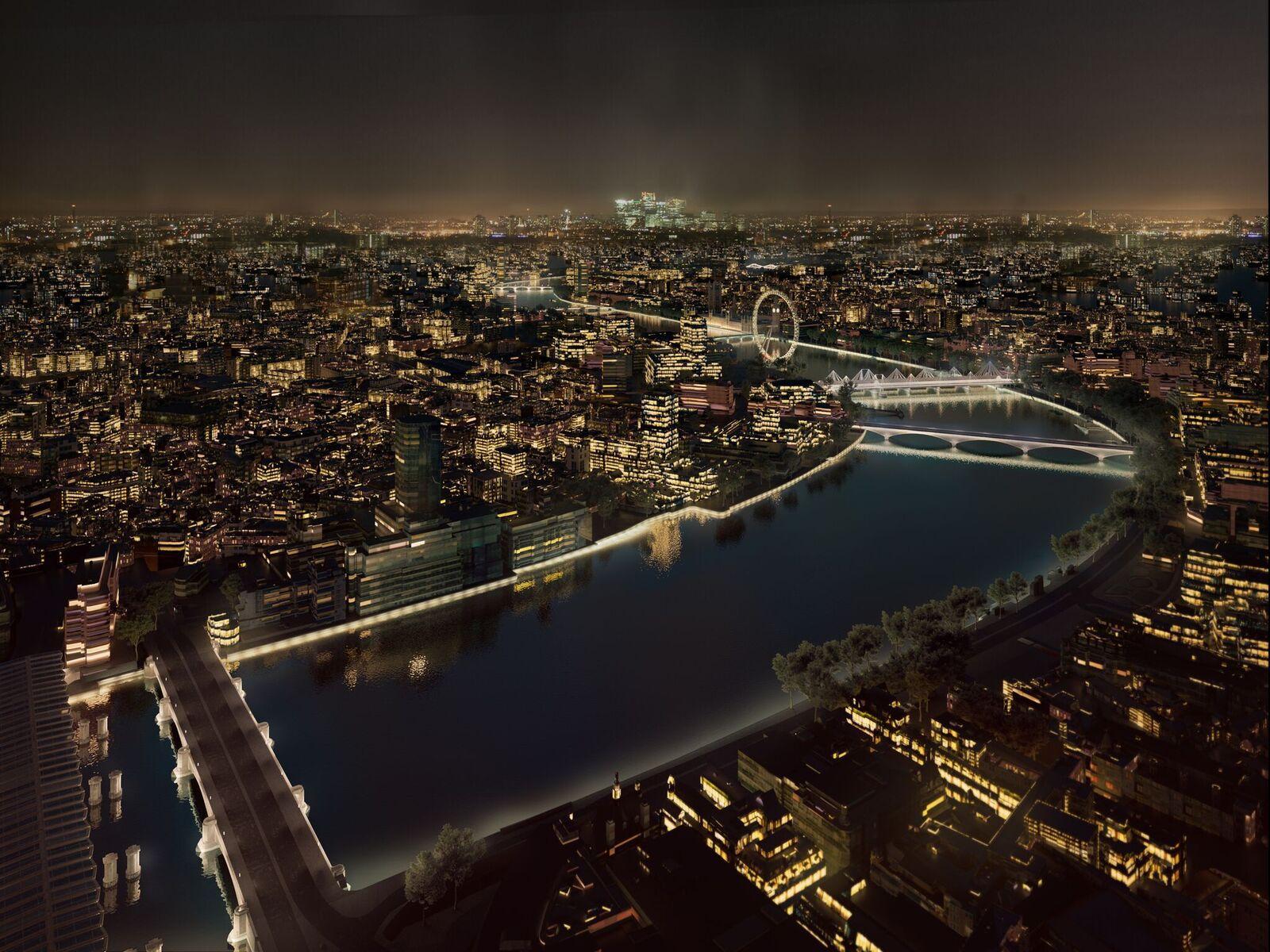 Marée haute, Masterplan, London, UK © MRC and AL_A