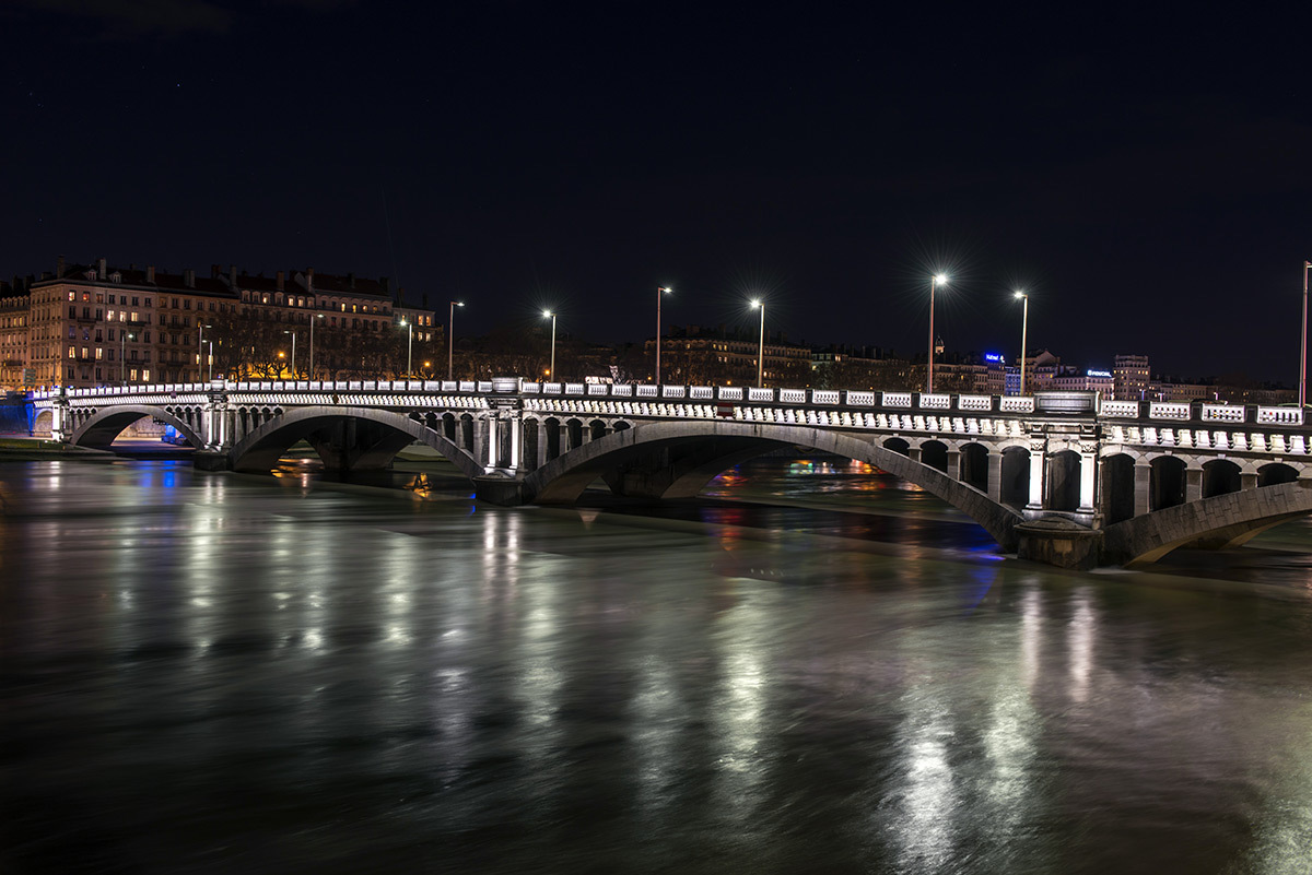 Éclairage architectural - Pont Wilson, Lyon