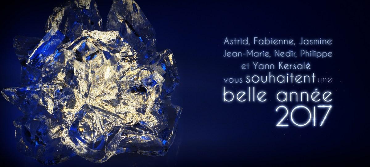 Carte de vœux 2017 de l'Atelier SNAIK - Yann Kersalé
