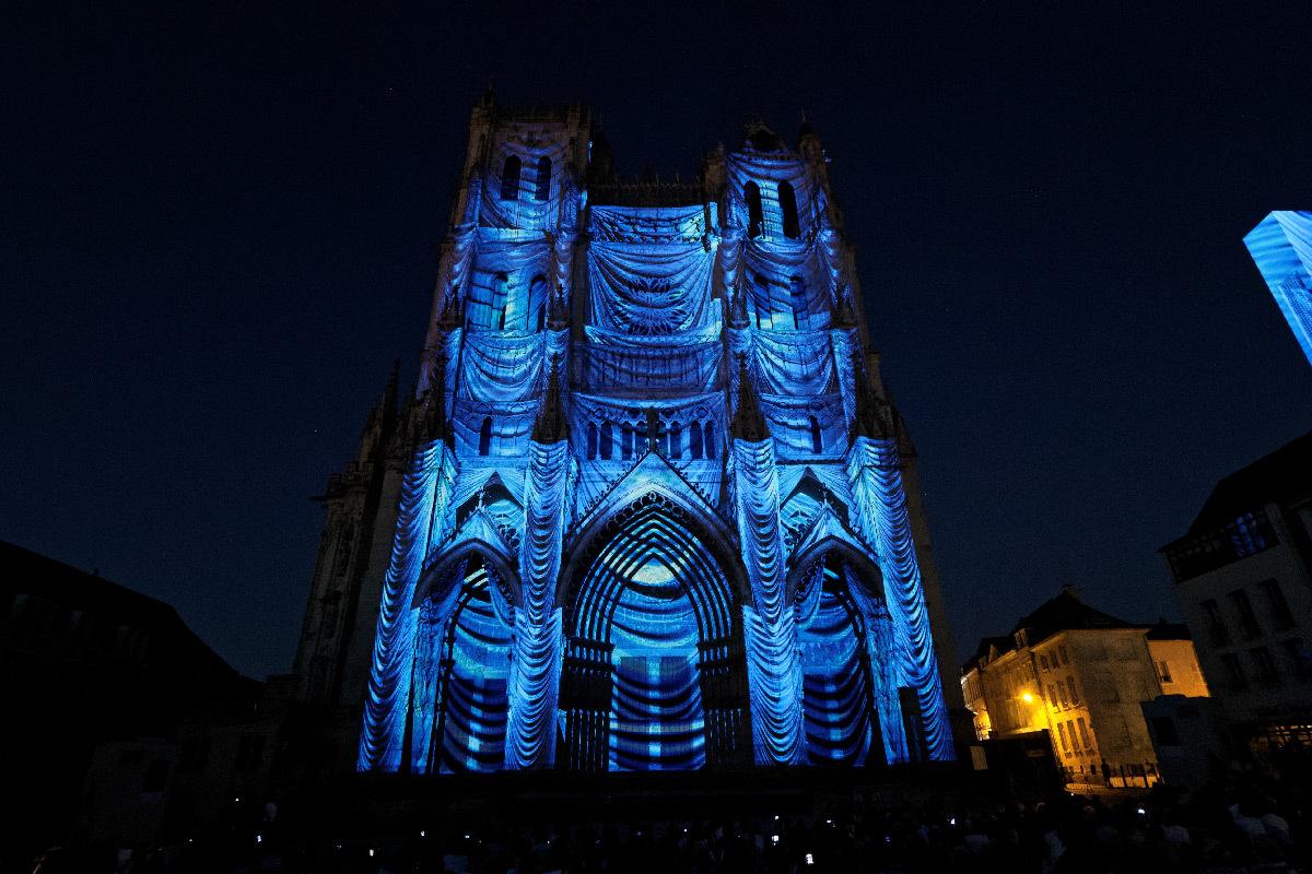 Chroma, cathédrale-Notre-Dame, Amiens, France - Spectacle Spectre Lab pour Amiens Métropole