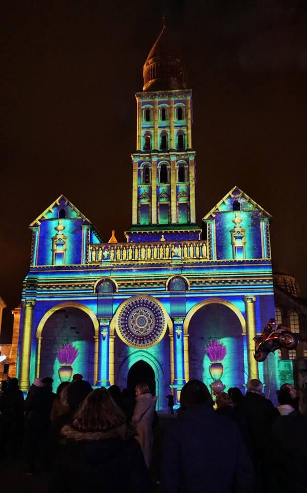 Cathédrale de Perigueux - vidéo mapping - Noël 2017