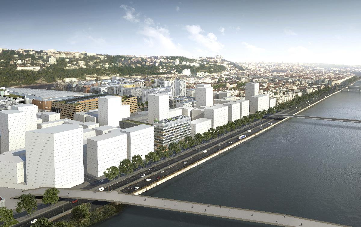 Implantation de Lumen, la Cité de la Lumière à Lyon Confluence