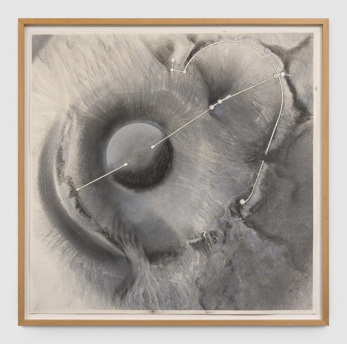 Roden Crater Basic Flour Plans, étude de James Turrell, 1991, 101,7 x 102,7 cm