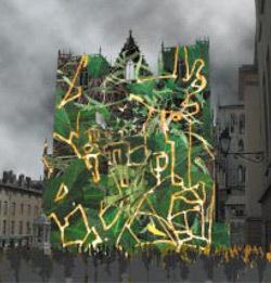 Simulation artistique - Arbre d'ombre, par Jean-Philippe Poirée Ville - Fête des Lumières 2004