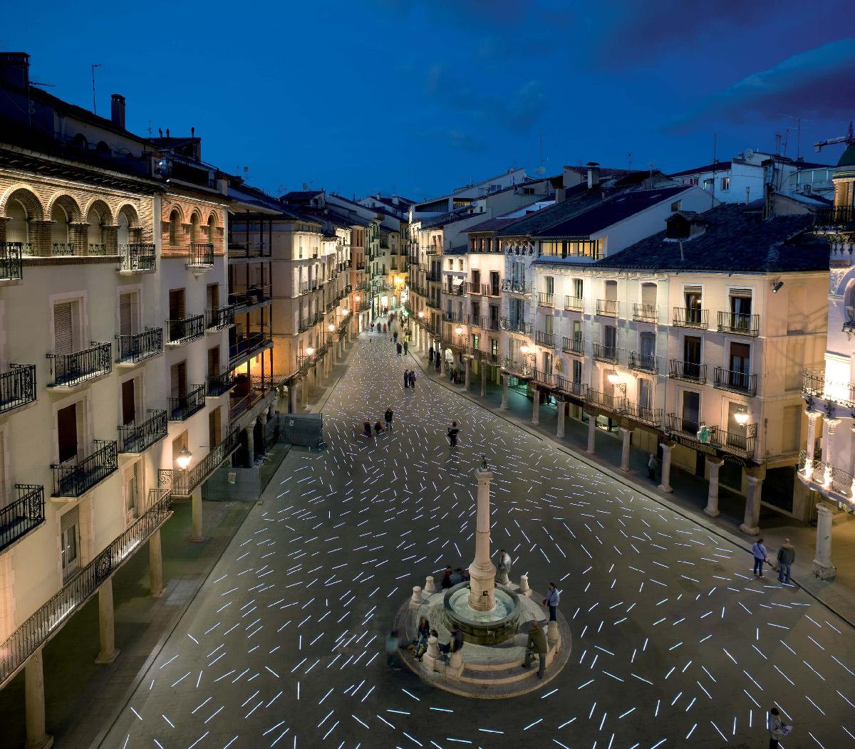Place Torico, Teruel, Espagne - b720 Arquitectos - Concepteur lumière : Artec3 Studio