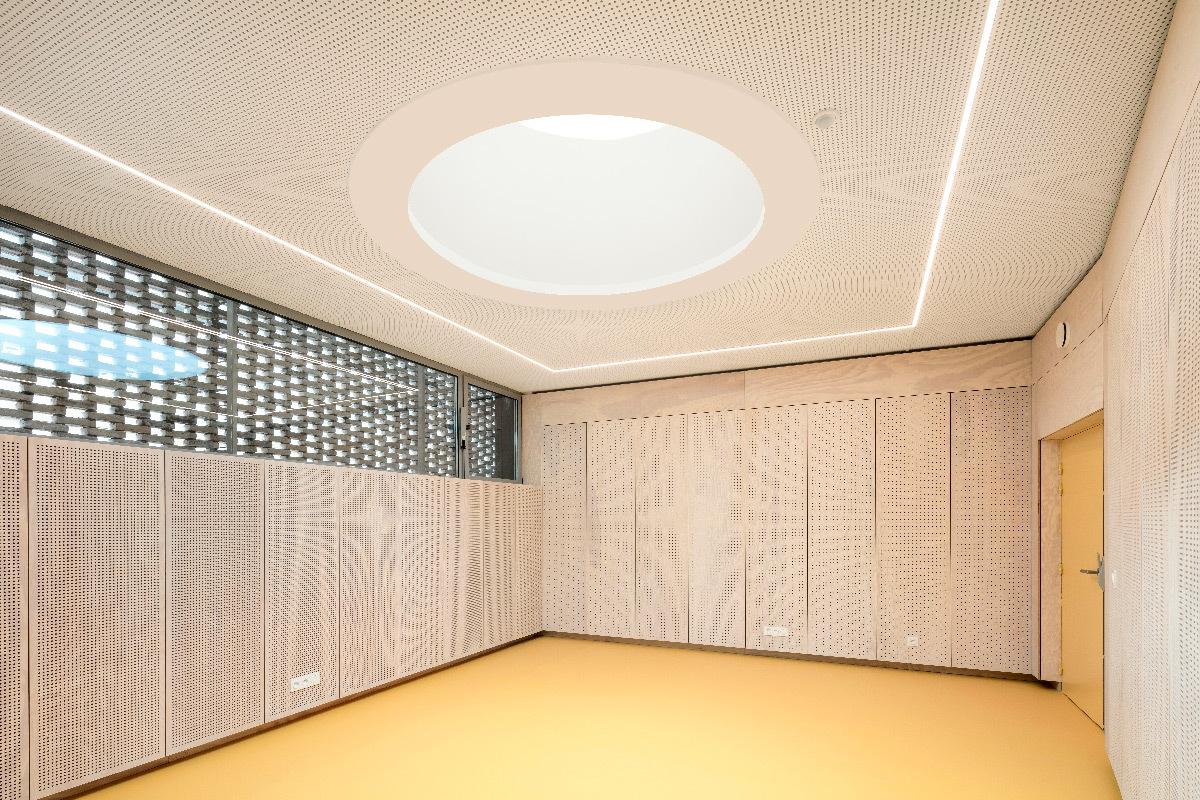 Puits de lumière du jour, école de musique, Élancourt, France - Opus 5 architectes