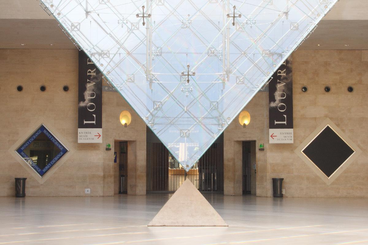 Galerie du Carrousel, pyramide inversée, Paris, France - Architecte : Ieoh Ming Pei - 2010 © Musée du Louvre, Antoine Mongodin