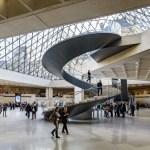 Pyramide du Louvre, vue intérieure, Musée du Louvre, Paris, France - Architecte : Ieoh Ming Pei - Ingénieur : Roger Nicolet © 2017, musée du Louvre, Olivier Ouadah