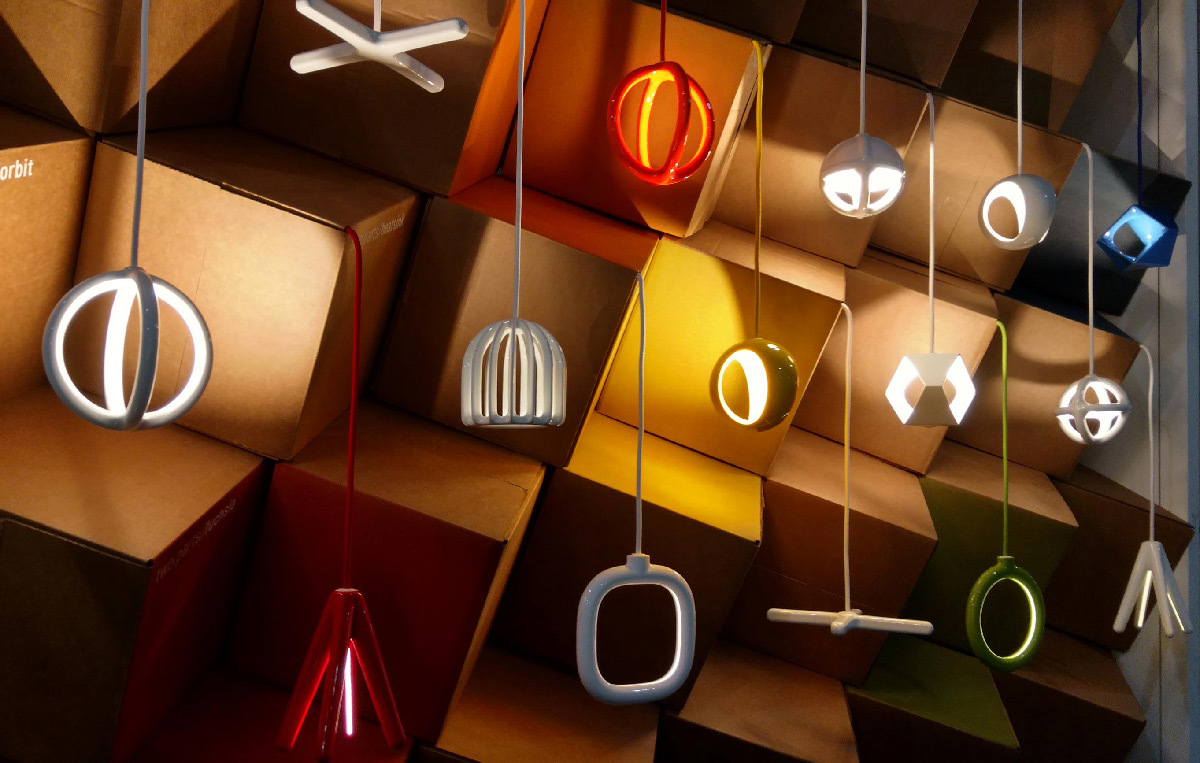 Lampes suspendues en impression 3D - Fabricant Two Parts - Designer © Christo Logan